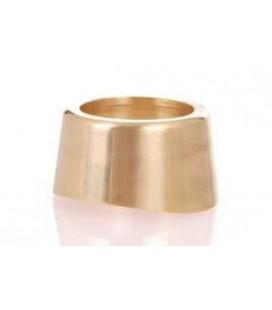 Flange for 3'' column shank polished brass finish