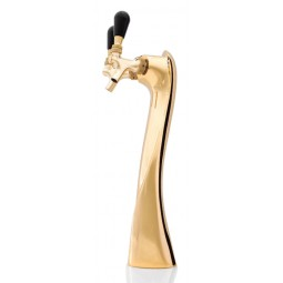 Lucky tower 2 faucet gold air cooled for Kegerator (faucets and handles sold separately)