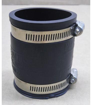 Non-slip rubber coupler