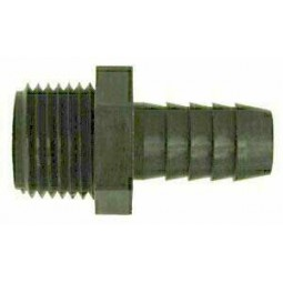 Adapter black poly 3/4 barb x 3/4 MPT