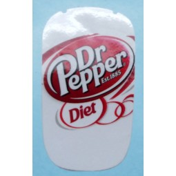 Flomatic label Diet Dr. Pepper
