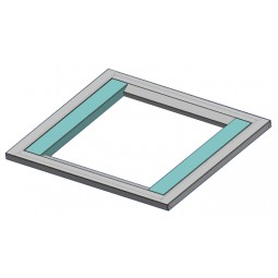 "Adapter universal 3"" filler span (teal colored parts in picture)"