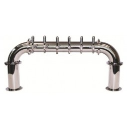 Lions Gate tower 6 faucet polished SS (faucets and handles sold separately)