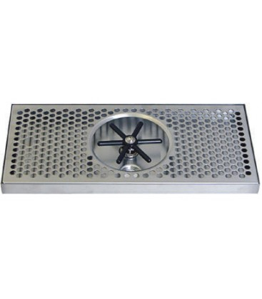 """Surface mount drip tray with center rinser 7"""" x 7/8"""" x 12"""""""