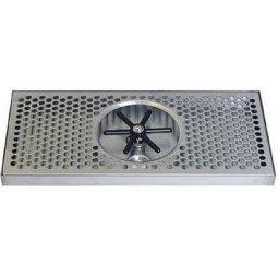 "Surface mount drip tray with side rinser 7"" x 7/8"" x 20"""