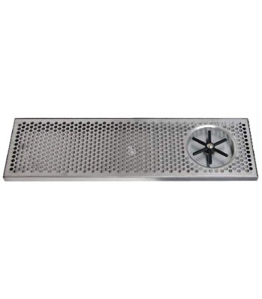 """Surface mount drip tray with side rinser 7"""" x 7/8"""" x 39"""""""