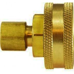Brass adapter, 1/4 compression x 3/4