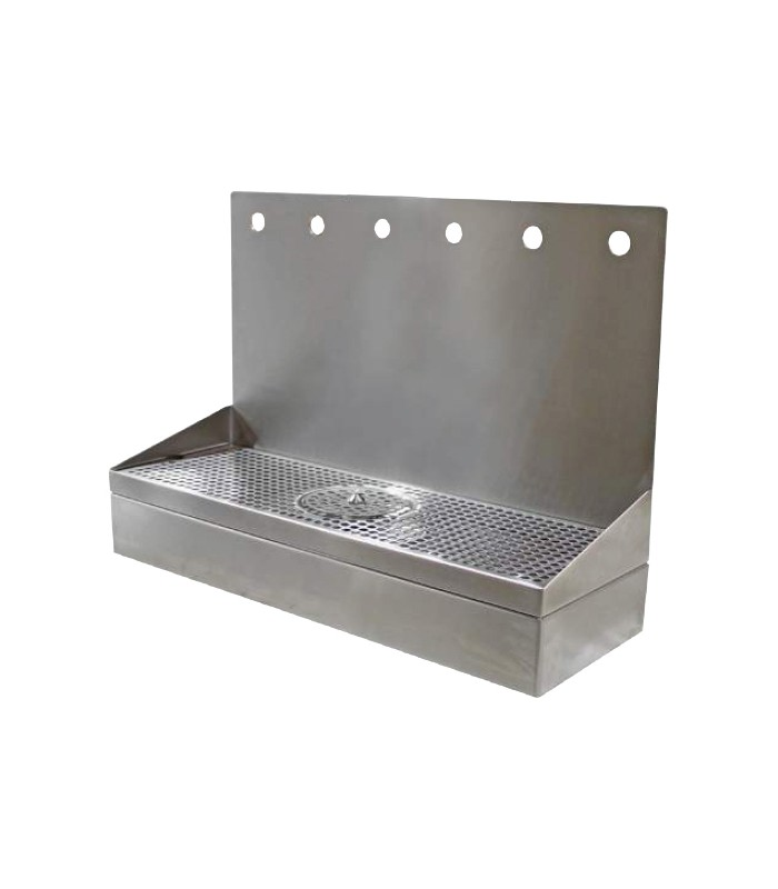 Wall Mount Drip Tray Growler Filler With Rinser Ss 6