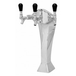 Gothic tower chrome 3 faucet