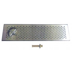 "Surface mount rinser drip tray, 30"" x 8"" x 1"""