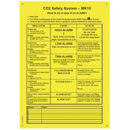 CO2 Alert MK10 sign - 50 sign pack