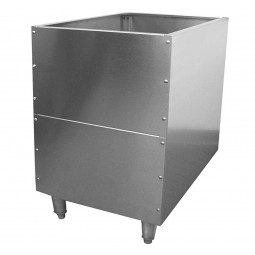 Conversion stand for 23x23 drop-in ice chest knock down
