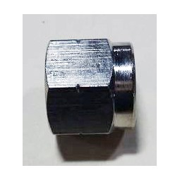 Swivel nut 3/8 FFL nickel plate brass