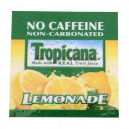 FS valve label, Tropicana Lemonade 2x2