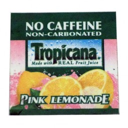 FS valve label, Tropicana Pink Lemonade 2x2