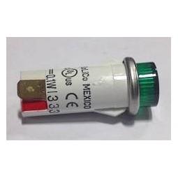 LED, green, 1/2 snap mount, 5 VDC