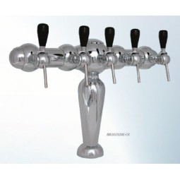 Monaco tower 4 faucet chrome glycol cooled (faucets and handles sold separately)