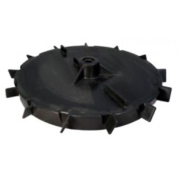 "Dispenser wheel, right side, hex, 44"", counterclockwise fins"