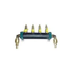 Glycol manifold assy SS 2 pump supply 4 way