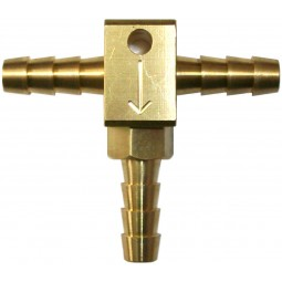 """1/4"""" tee with check valve"""