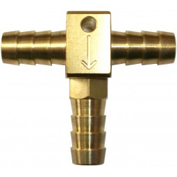 """3/8"""" tee with check valve"""