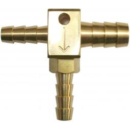 "1/4 x 1/4 x 3/8"" tee with check valve"