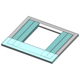 "Adapter universal 22"" wide x 9.5"" deep top plate (aqua colored part in picture)"