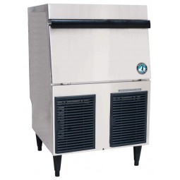 Ice machine flaker with built-in bin 80 lb bin 332 lbs ice/day