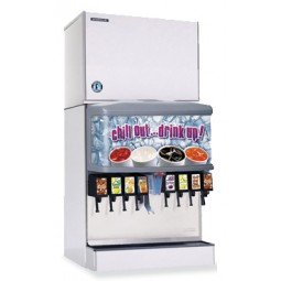 "Hoshizaki remote air cooled ice machine 30"" modular crescent cuber mounts on dispenser 560 lbs ice/day"