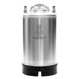 3 gallon ball lock keg, food grade 304 stainless steel, rubber boot bottom