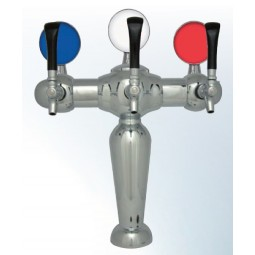 Brigitte tower 3 faucet chrome glycol cooled LED medallions (faucets and handles sold separately)