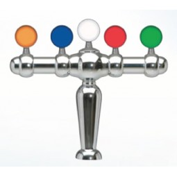 Brigitte tower 5 faucet chrome glycol cooled LED medallions (faucets and handles sold separately)