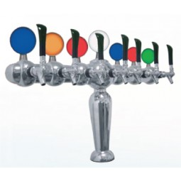 Brigitte tower 7 faucet chrome glycol cooled LED medallions (faucets and handles sold separately)