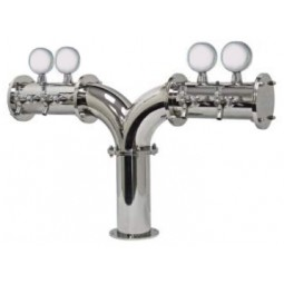 Albatross tower 4 faucet polished SS glycol cooled LED medallions (faucets and handles sold separately)