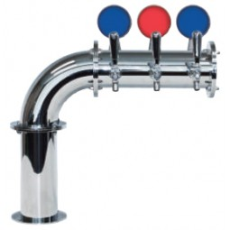 Linx Lit L7 tower 4 faucets polished SS LED (faucets and handles sold separately)