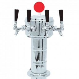 Mushroom mini tower polished SS finish 5 faucets glycol cooled (faucets and handles sold separately)