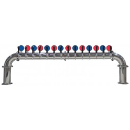Lions Gate lit tower 10 faucet polished SS LED medallions (faucets and handles sold separately)