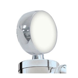 "3"" diameter chrome tower cap with 2-side LED medallion holder"