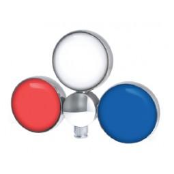 Triple chrome plug & play LED medallion holder