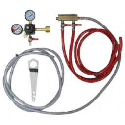 Tapping kit for keg cooler, 2 tap CO2 kit