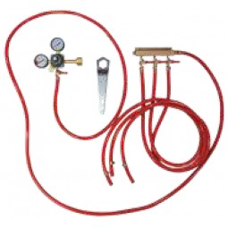 Tapping kit for keg cooler, 3 tap CO2 kit