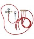 Tapping kit for keg cooler, 3 tap CO2 kit