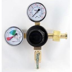 "Primary soda regulator, 1P1P, CGA320 inlet, 1/4"" barb shut‐off w/check, 160 lb and 2000 lb gauges"
