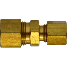 Brass 1/2 x 3/8 compression reducing union