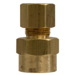 Brass adapter 1/4 compression x 1/4 FPT