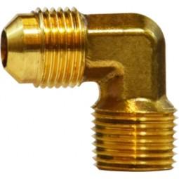 Brass elbow 3/8 MFL x 1/2 MPT