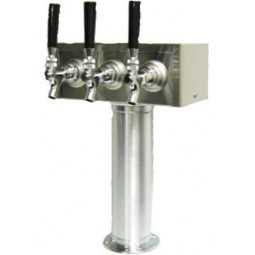 T box tower 3 faucets SS glycol