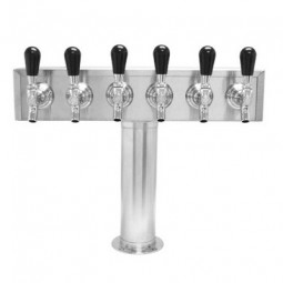 T box tower 6 faucets SS glycol