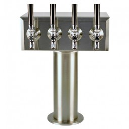 T box tower 4 faucets SS glycol