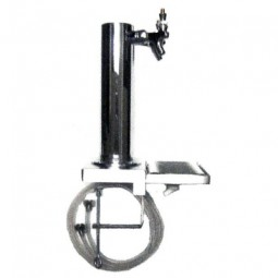 "Clamp on 2 faucet 3"" column tower and drip tray with drain"